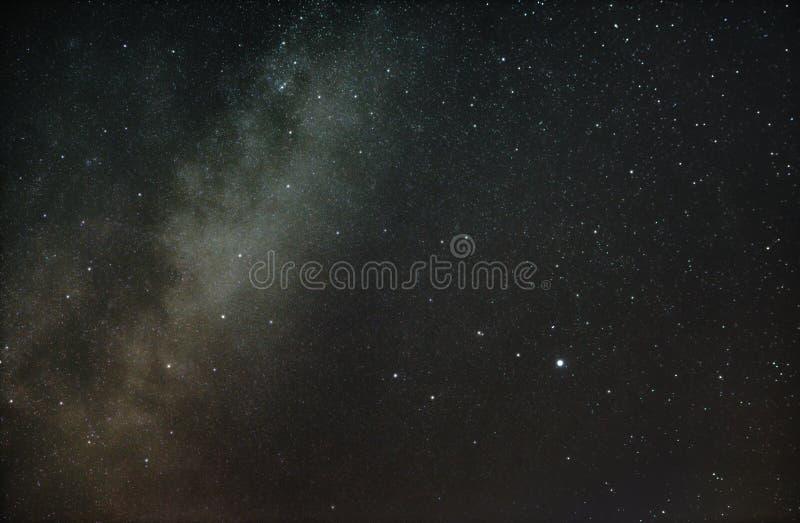 Constelação da lira e de nossa galáxia a Via Látea fotografia de stock