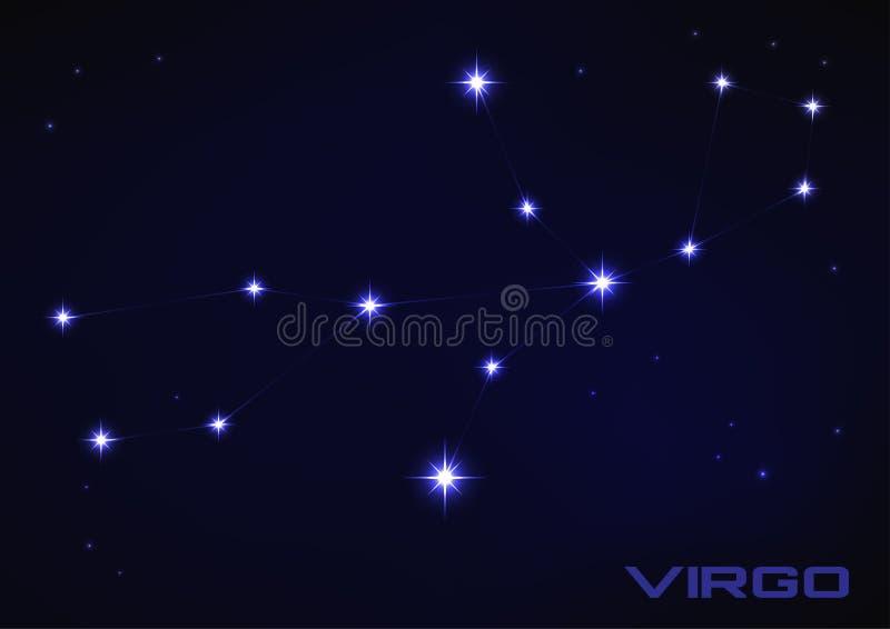 Constelação da Virgem ilustração royalty free