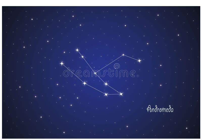 Constelação de Andromeda ilustração do vetor