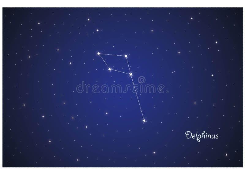 Constelação de Dolphinus ilustração royalty free