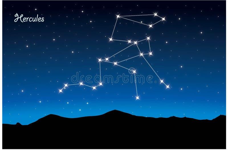 Constelação de Hercules ilustração stock