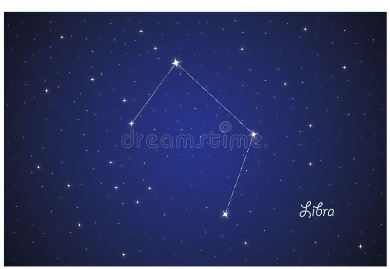 Constelação de Libra ilustração stock