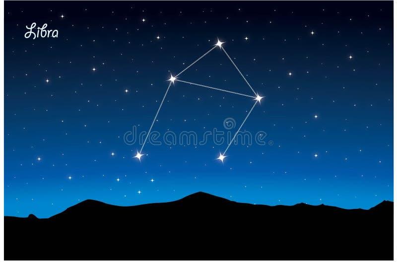 Constelação de Libra ilustração royalty free