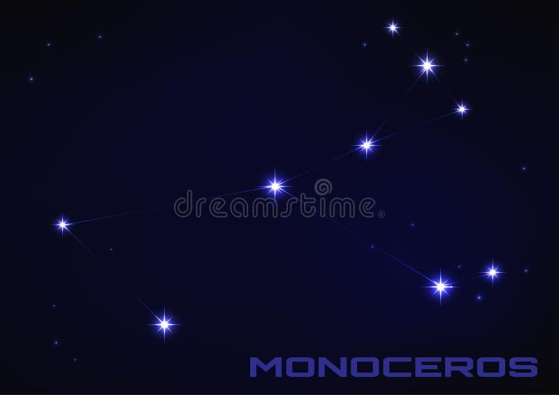 Constelação de Monoceros ilustração royalty free