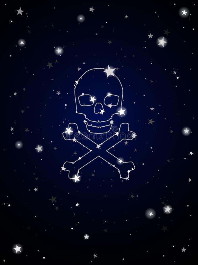 Constelação de morte ilustração do vetor