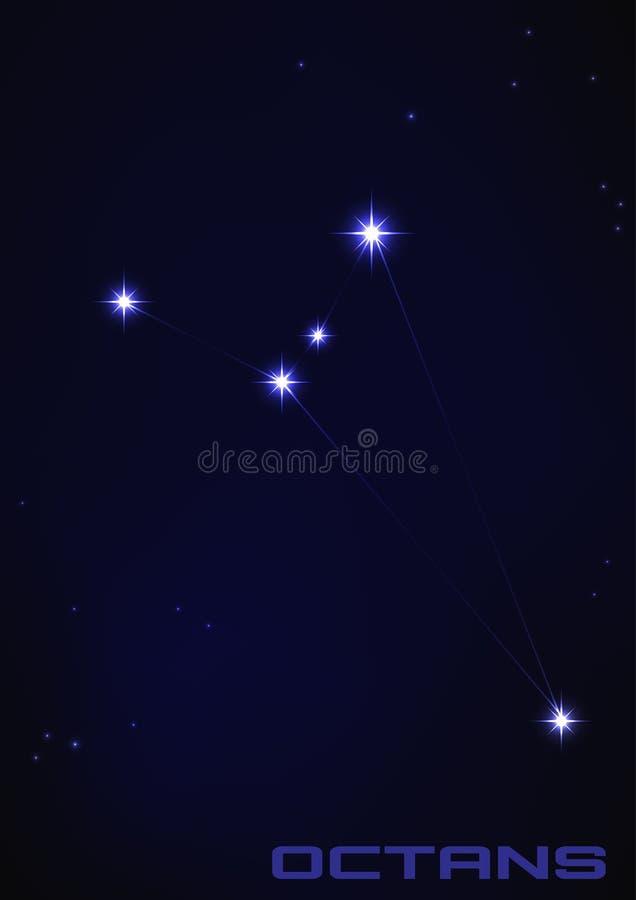 Constelação de Octans ilustração royalty free
