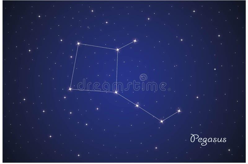 Constelação de Pegasus ilustração do vetor