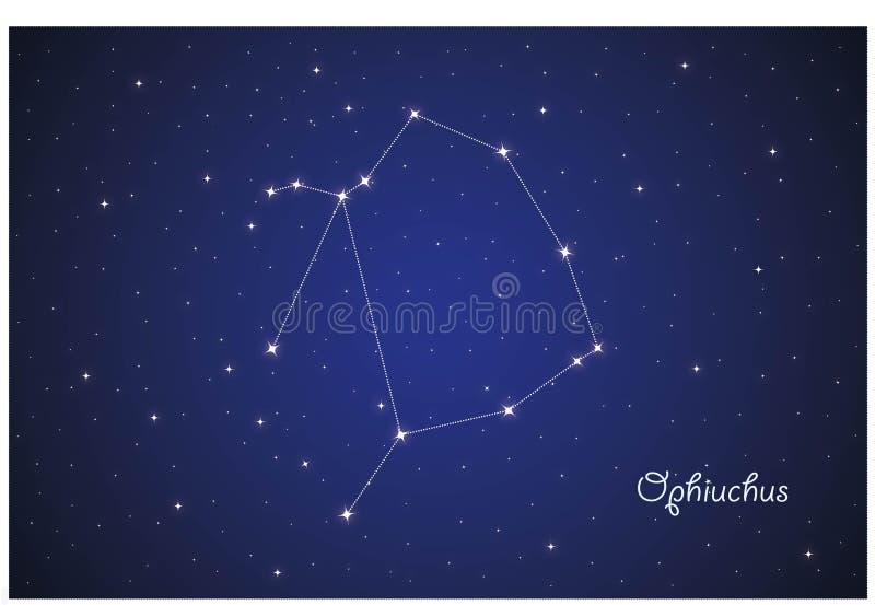 Constelação de Qphiuchus ilustração stock