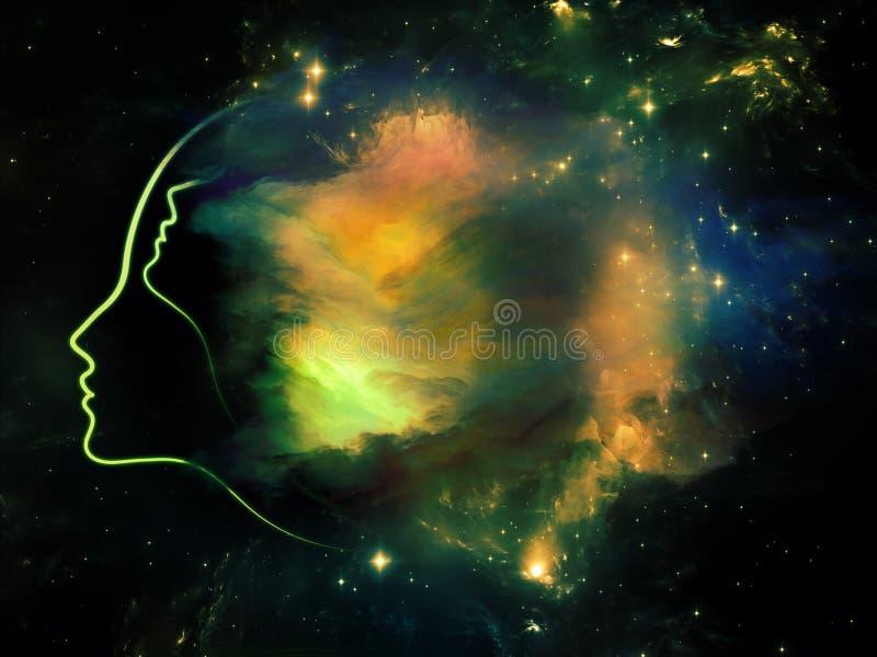 Constelação de você ilustração stock
