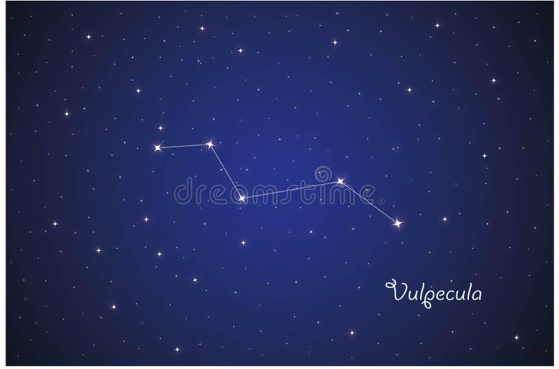 Constelação de Vulpecula ilustração royalty free