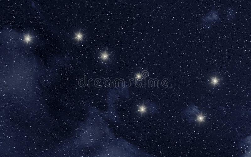 Constelação do major de Ursa ilustração stock