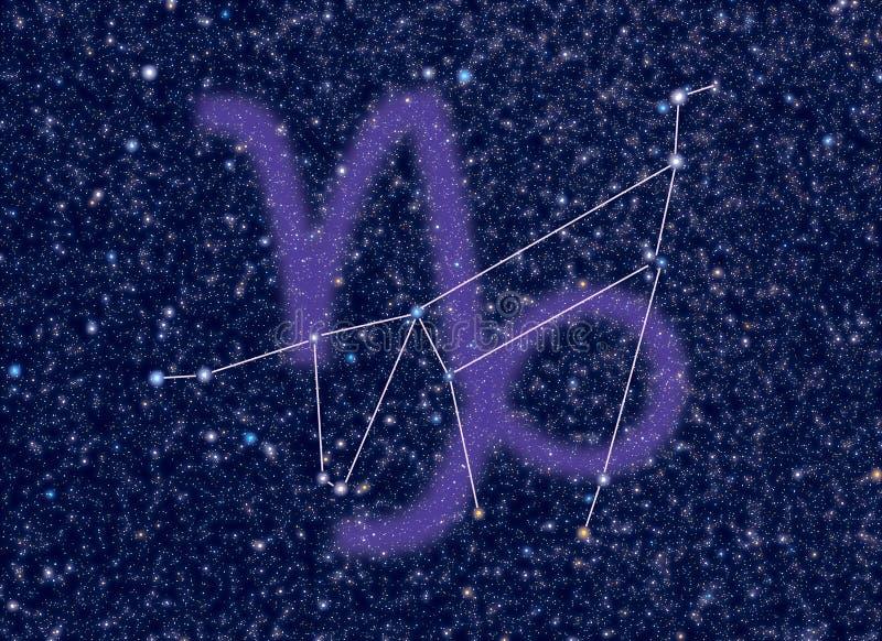 Constelação do zodíaco do Capricorn ilustração do vetor