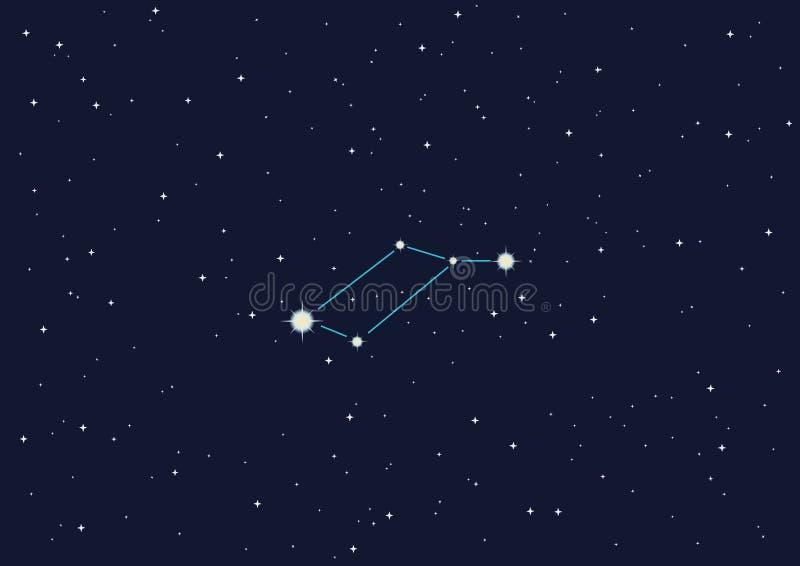 Constelação Lyra ilustração do vetor