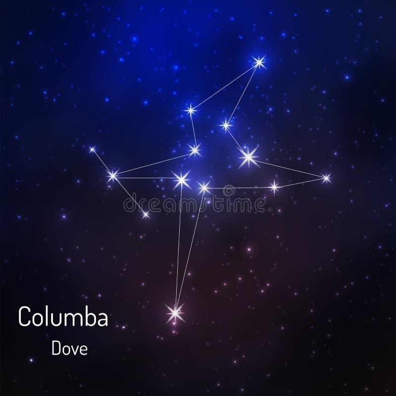Constelação no céu estrelado da noite ilustração royalty free