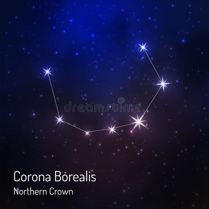 Constelação no céu estrelado da noite ilustração do vetor
