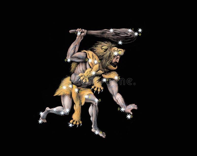 Constelação o Hercules o guerreiro ilustração stock