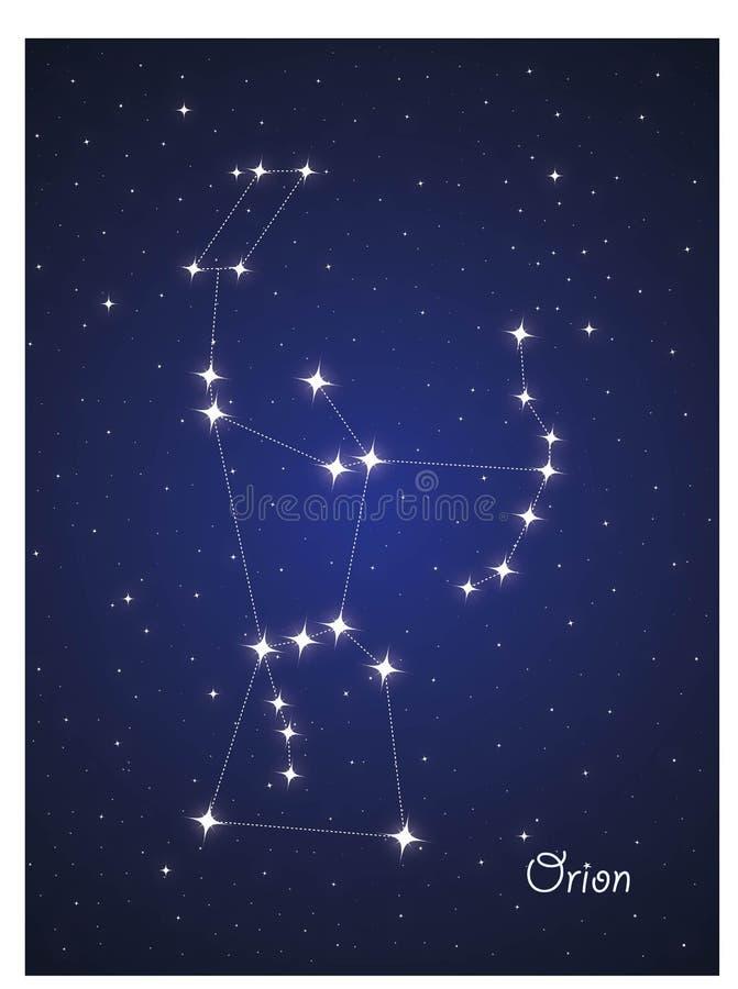 Constelação Orion ilustração royalty free