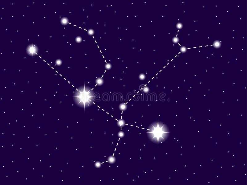 Constela??o do Andromeda C?u nocturno estrelado Objetos do espaço, galáxia Vetor ilustração royalty free