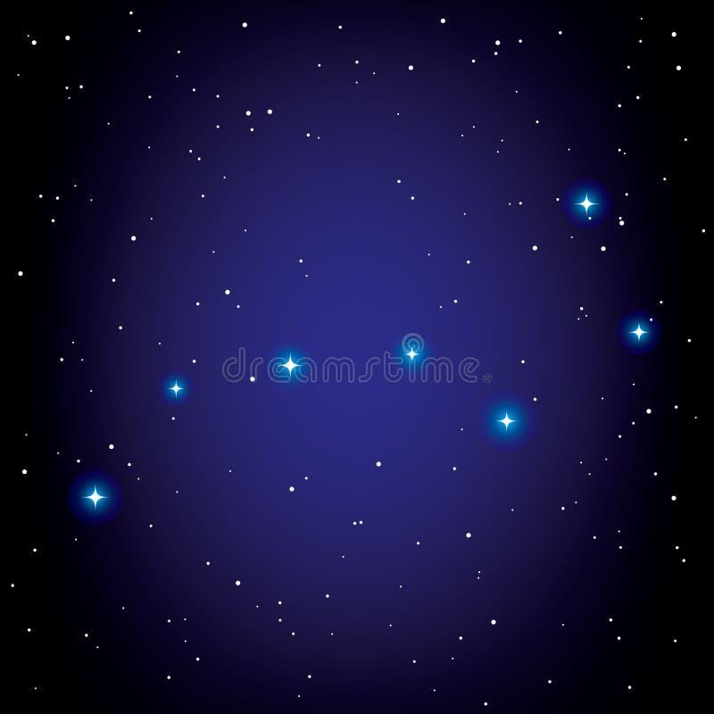 Constelación de cazo grande libre illustration