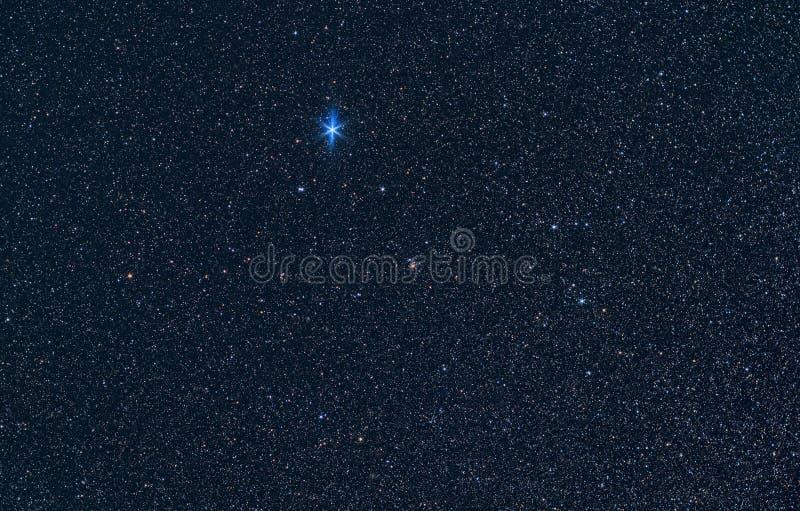 Constelación de Lyra con Vega fotografía de archivo