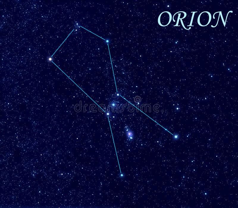 Constelación de Orion ilustración del vector