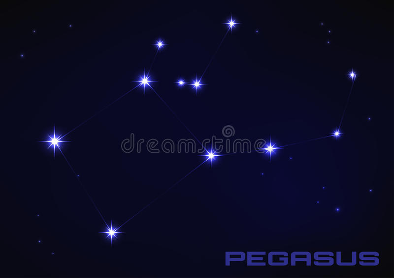 Constelación de Pegaso ilustración del vector