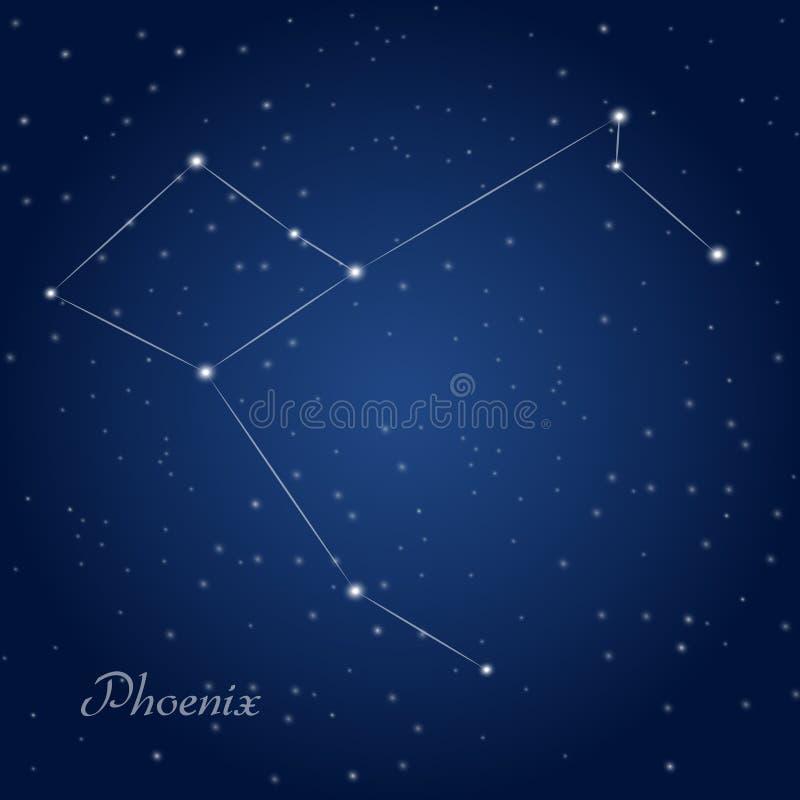Constelación de Phoenix stock de ilustración