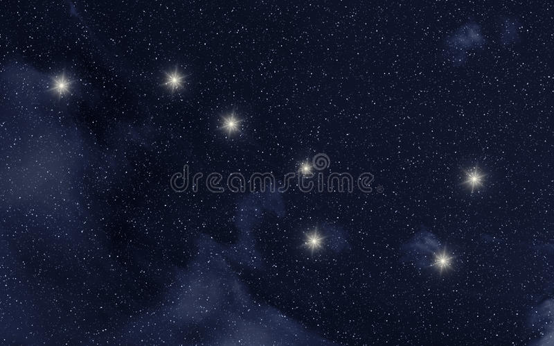 Constelación del comandante de Ursa stock de ilustración