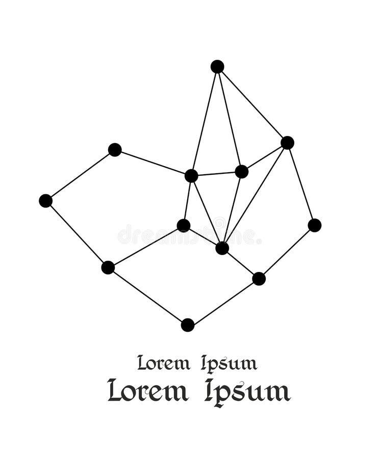 constelación Estructura abstracta de la molécula Concepto del espacio o de la ciencia stock de ilustración