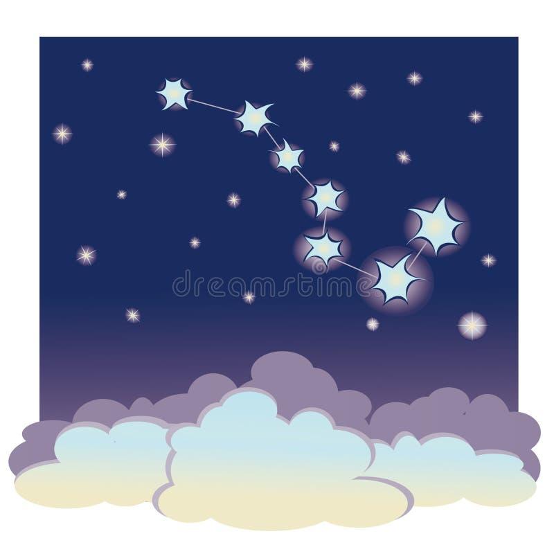 Constelación la Osa Mayor stock de ilustración
