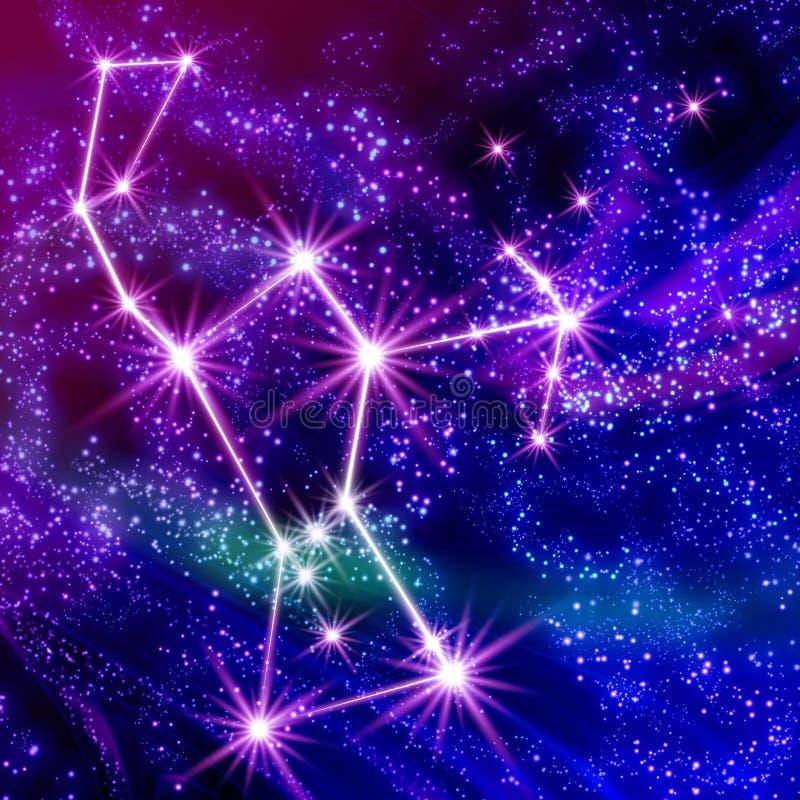 Constelación Orión stock de ilustración
