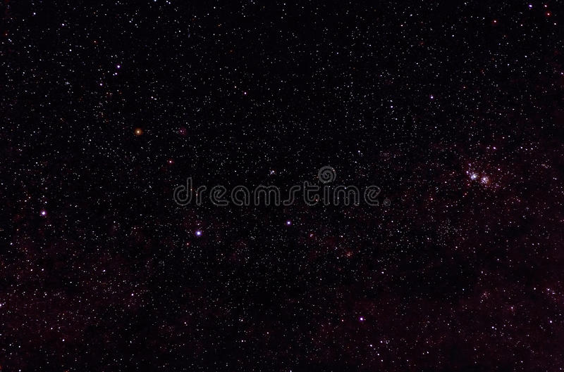 Constelaciones de Cassiopeia fotos de archivo
