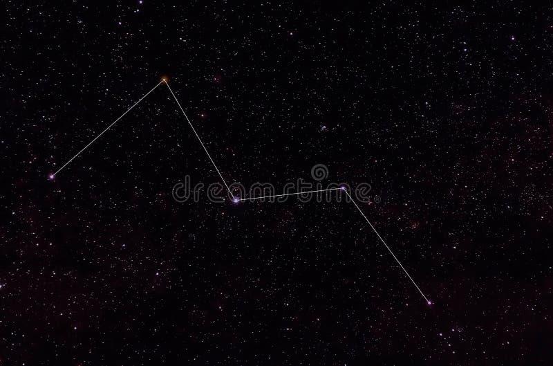 Constelaciones de Cassiopeia y de Cepheus fotos de archivo