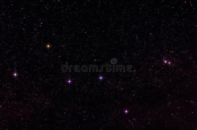 Constelaciones de Cassiopeia y de Cepheus fotografía de archivo