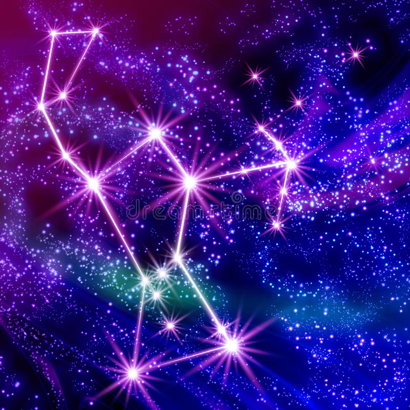 Constellatie Orion stock illustratie