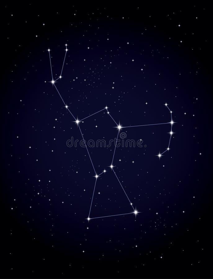 Constellatie Orion royalty-vrije illustratie