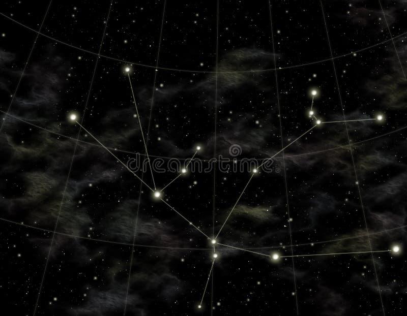 Constellatie van Andromeda royalty-vrije illustratie