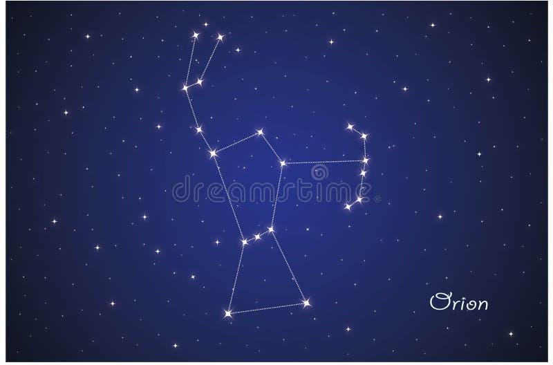 Constellatie van Orion vector illustratie