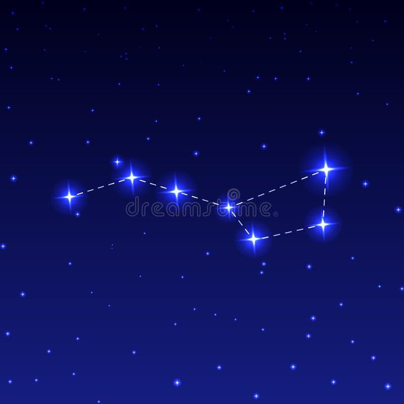 Constellatiegrote beer royalty-vrije illustratie