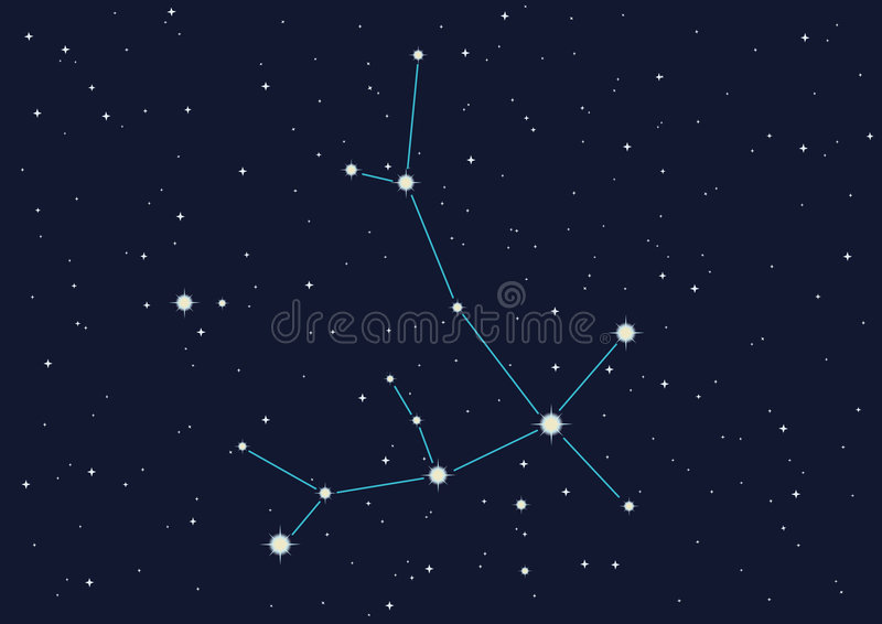 constellation andromedy royalty ilustracja