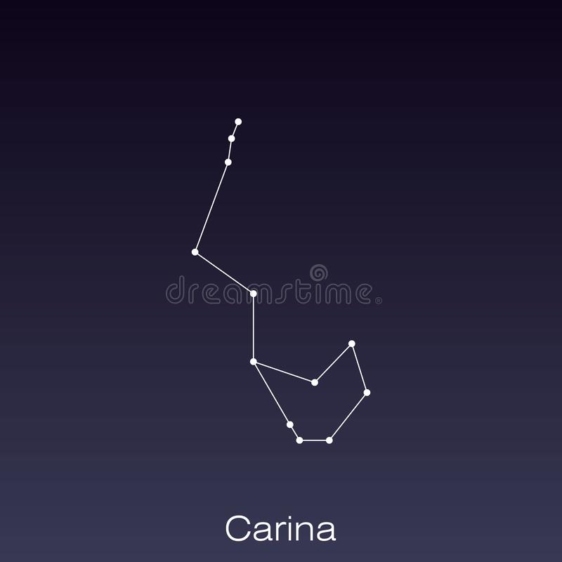 Constellation as it can be seen by the naked eye. Carina constellation as it can be seen by the naked eye royalty free illustration