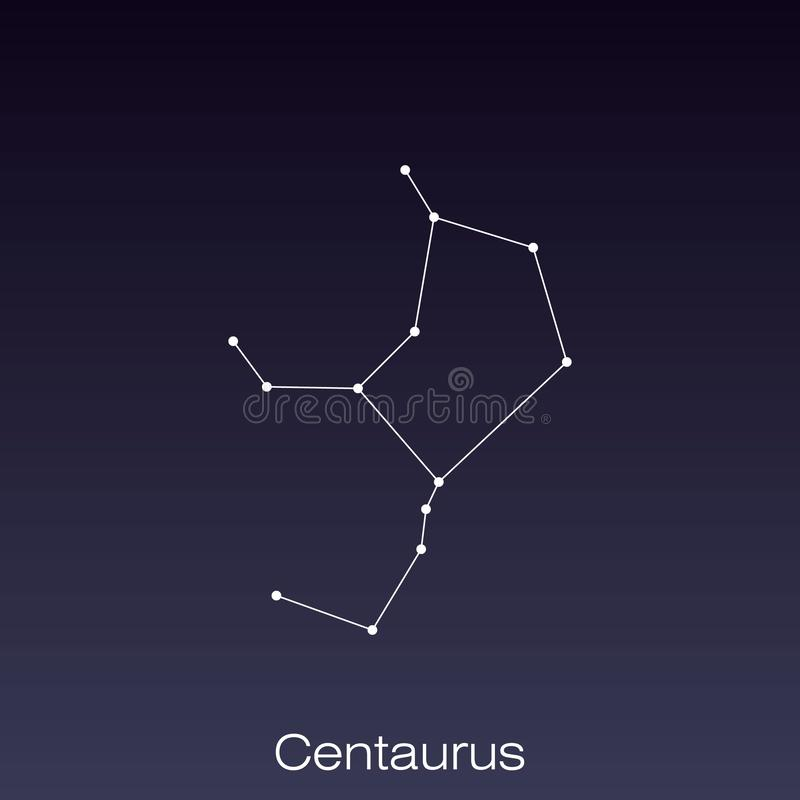 Constellation as it can be seen by the naked eye. Centaurus constellation as it can be seen by the naked eye vector illustration