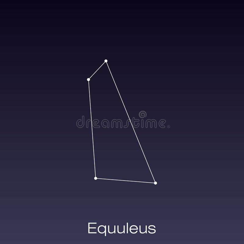 Constellation as it can be seen by the naked eye. Equuleus constellation as it can be seen by the naked eye royalty free illustration