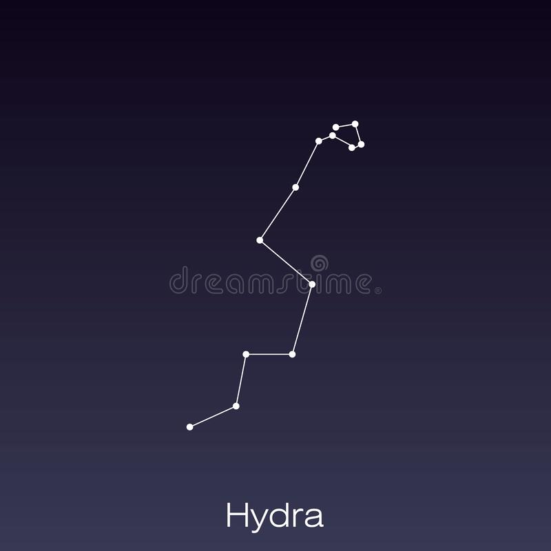 constellation as it can be seen by the naked eye stock illustration