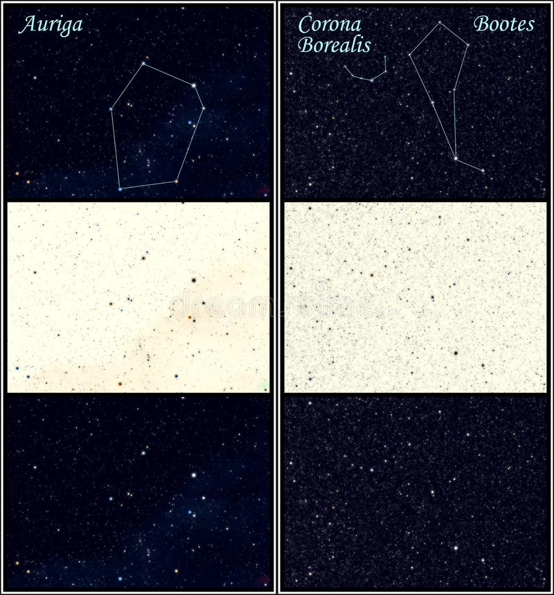 Constellation Auriga Bootes royalty free stock photography