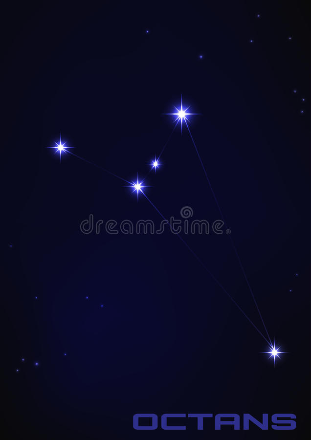 Constellation d'Octans illustration libre de droits