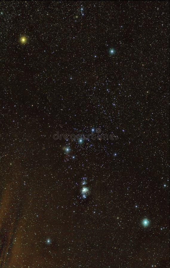 Constellation d'Orion images libres de droits