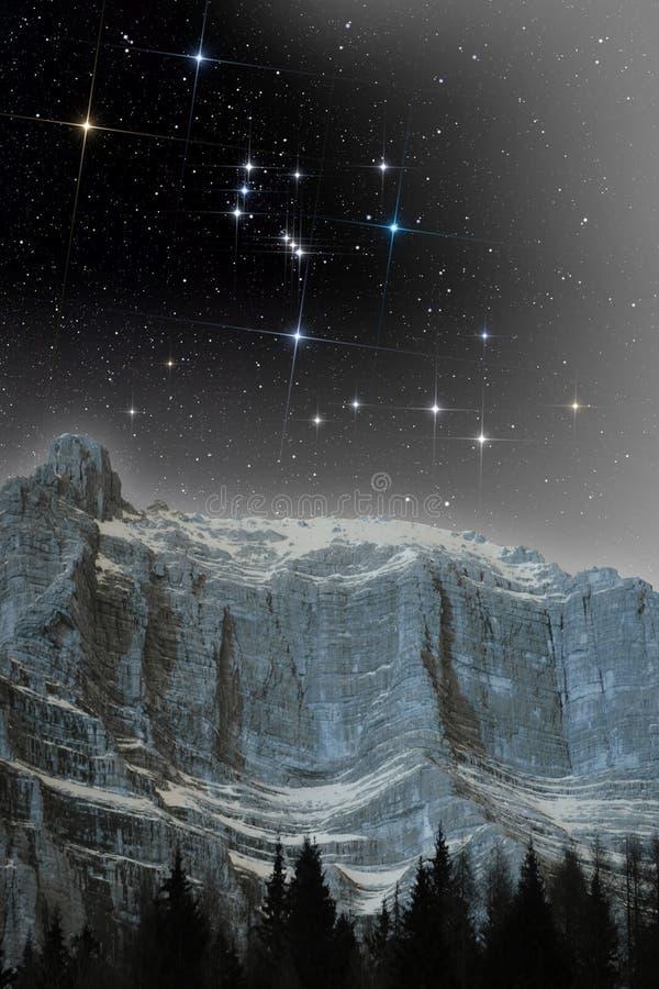 Constellation d'Orion image libre de droits