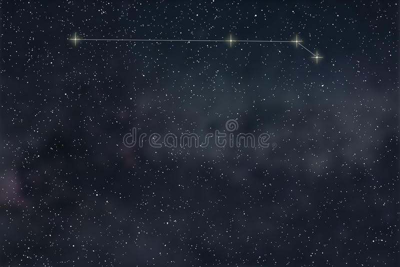 Constellation de Bélier Lignes de constellation de Bélier de signe de zodiaque illustration de vecteur