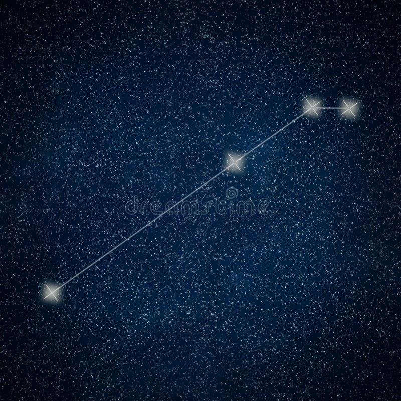 Constellation de Bélier Lignes de constellation de Bélier de signe de zodiaque illustration libre de droits